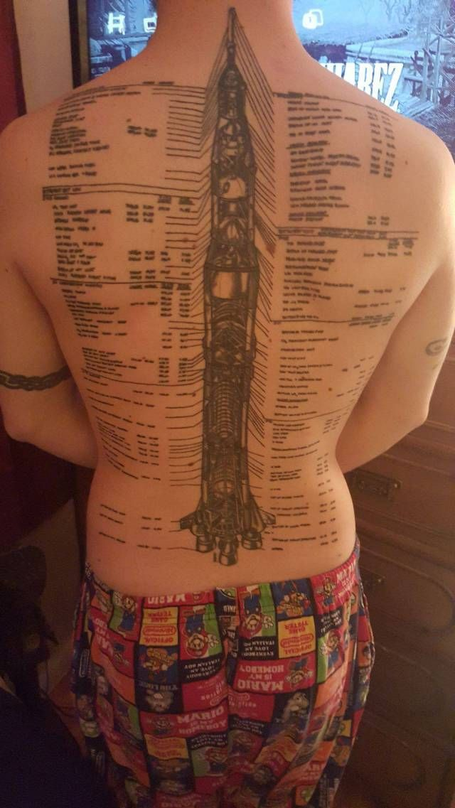 space shuttle tooltip tattoo