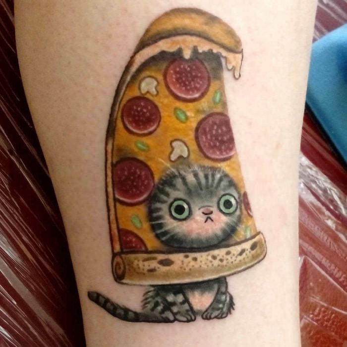 i like cats and i like pizza, give me a tattoo