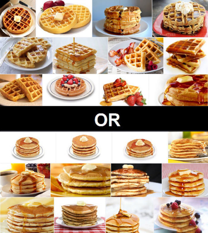 the great debate, waffles or pancakes