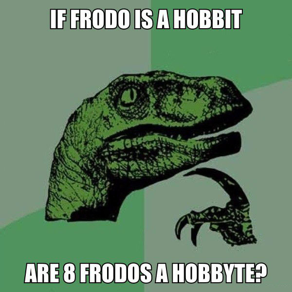 if frodo is a hobbit, are 8 frodos a hobbit?, philosoraptor, meme