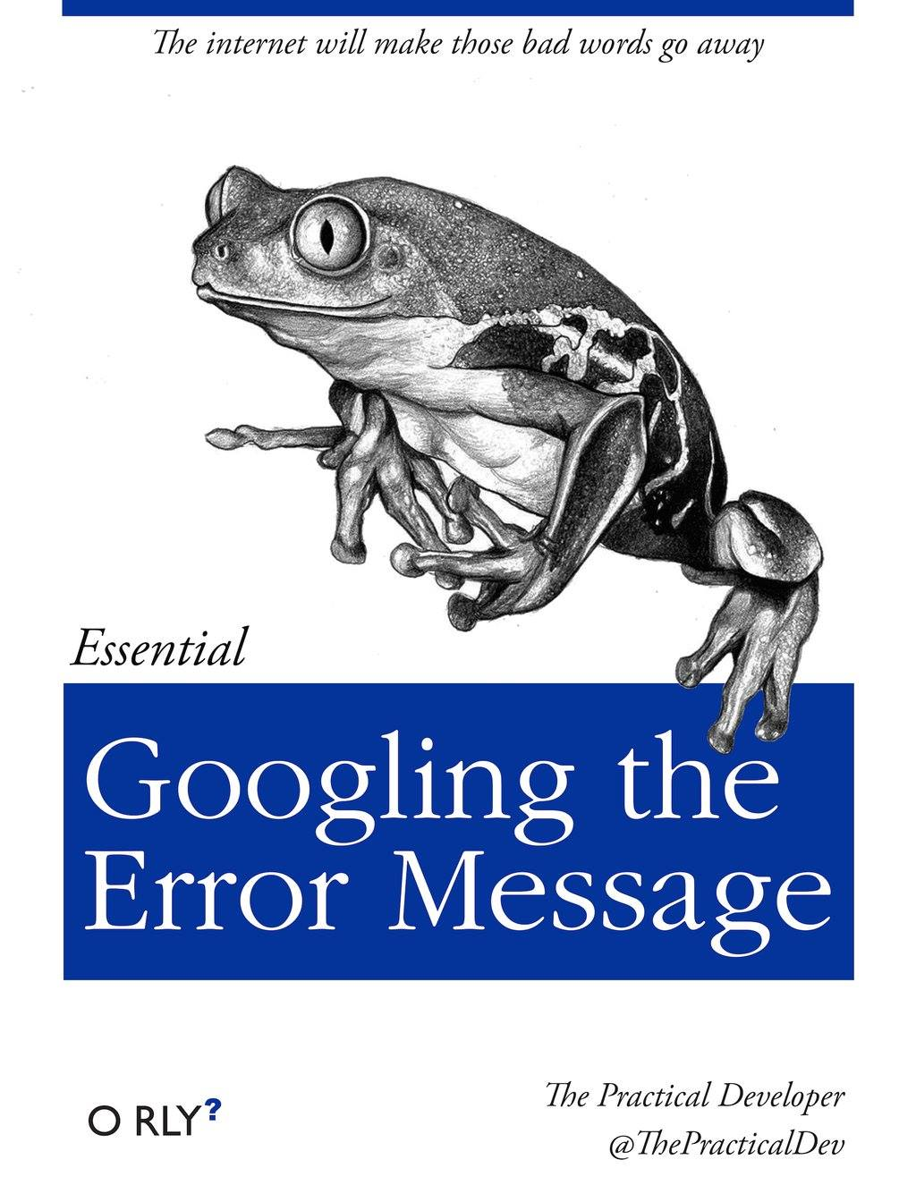 googling the error message, essential o rly?