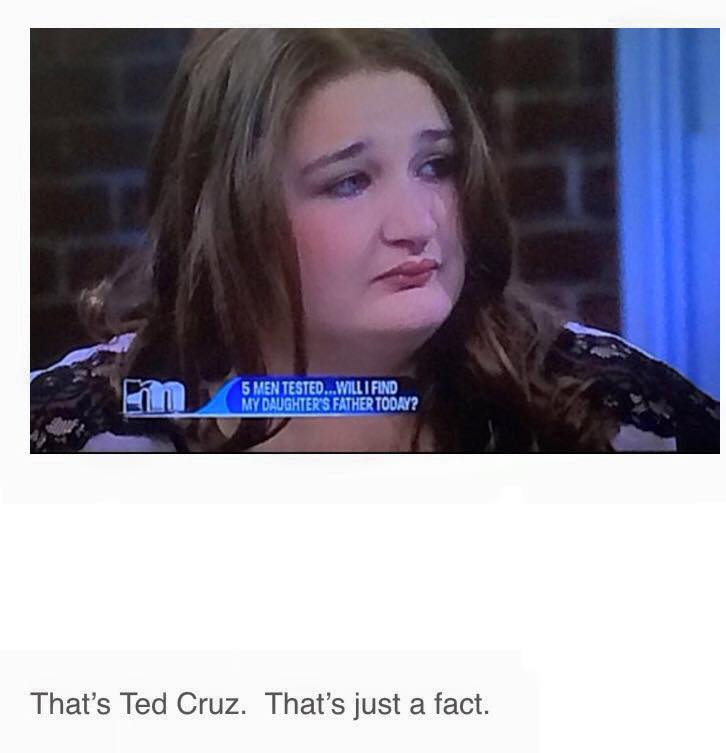 ted cruz's female doppleganger was on maurie the other day