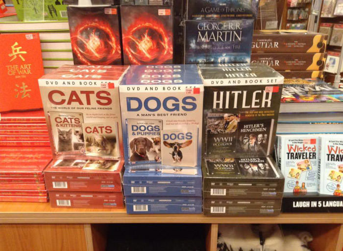 cats dogs and hitler, well that escalated quickly