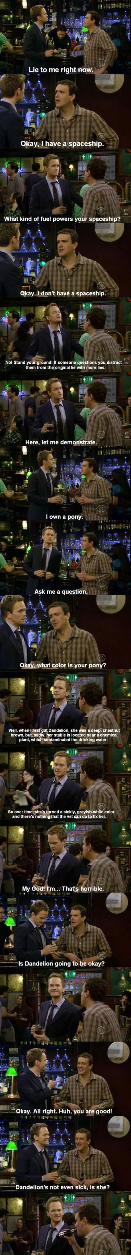 how to lie according to how i met your mother
