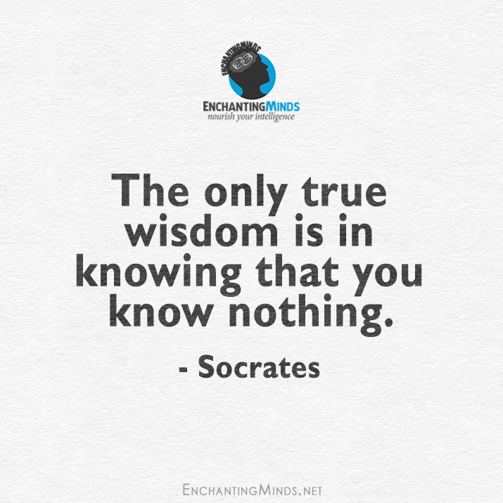 the only true wisdom is in knowing that you know nothing, socrates