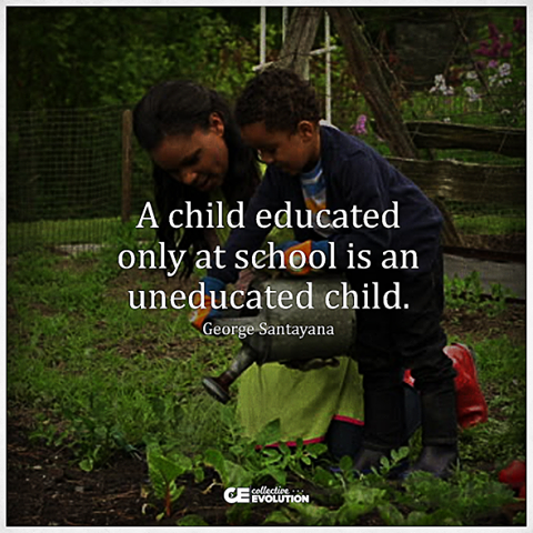 a child educated only at school is an uneducated child