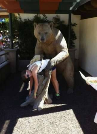 when statues attack, bear statue bending girl over, hacked irl