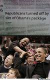 republicans turned off by size of obama's package