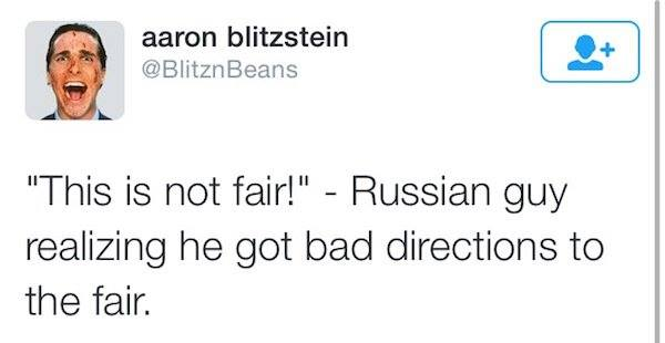 this is not fair, russian guy realizing he got bad directions to the fair