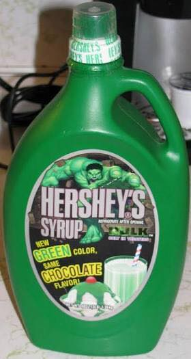 hershey's syrup green chocolate, wtf