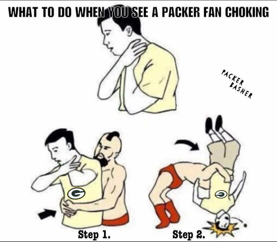 what to do when you see a packer fan choking