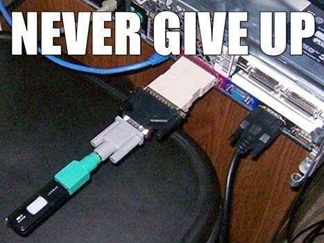 never give up, adapter adapter adapter, meme