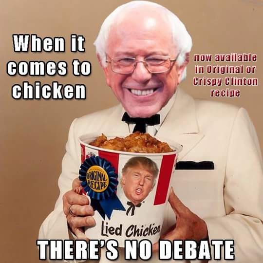 when it comes to chicken, there's no debate, now available in original or crispy clinton recipe