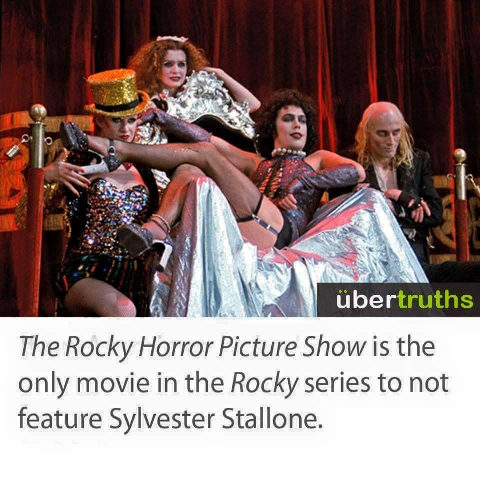 the rocky horror picture show is the only movie in the rocky series to not feature sylvester stallone
