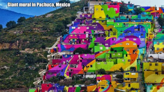 giant mural in pachuca mexico