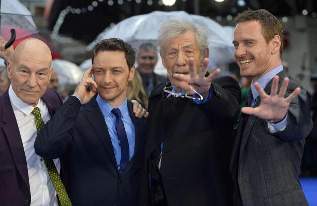 x-men young and old, patrick stuart, james mcavoy, michael fassbender, ian mckellen