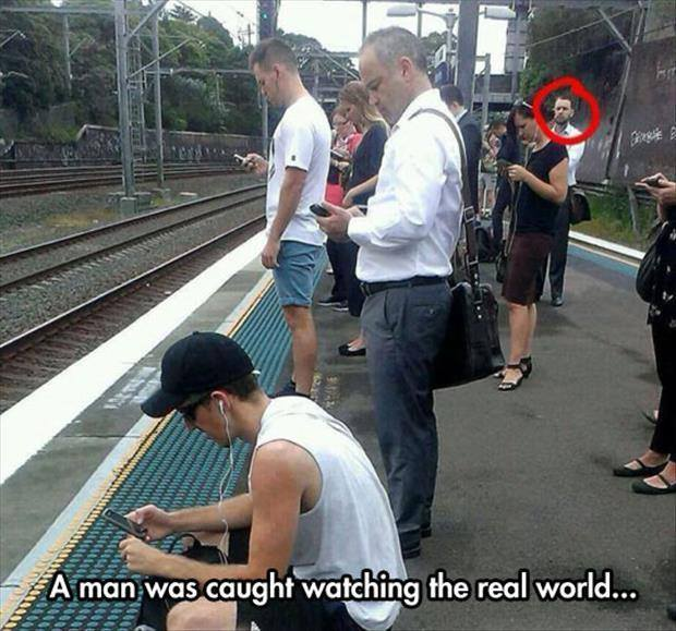 a man was caught watching the real world