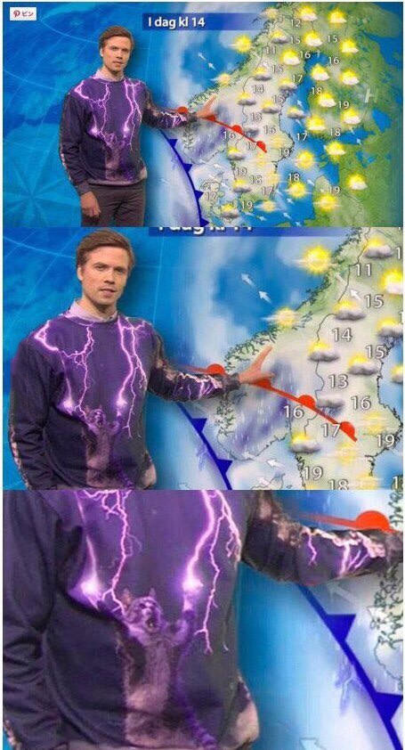 the best sweater a weather man can wear