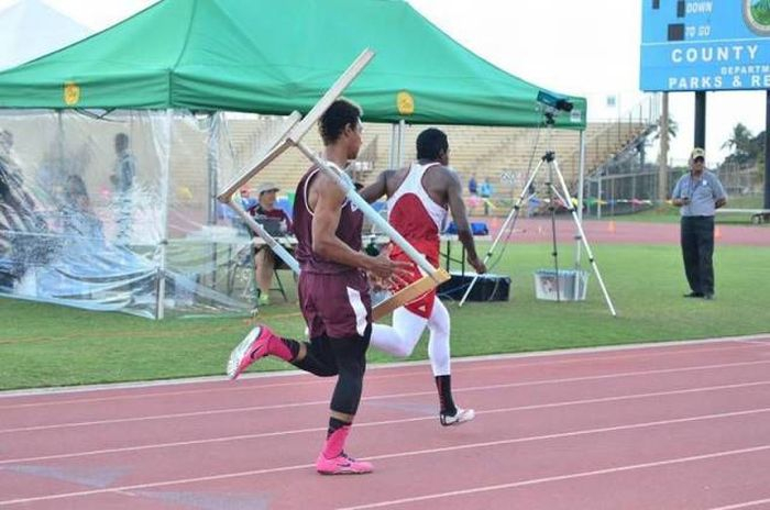 when you hit the hurdle hard but keep running