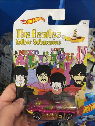 the beatles yellow submarine pink flowery sports car, product fail