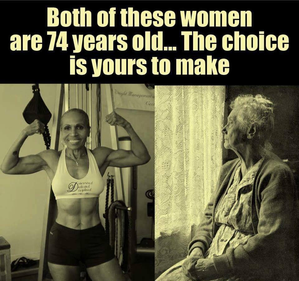 both of these woman are 74 years old, the choice is yours to make