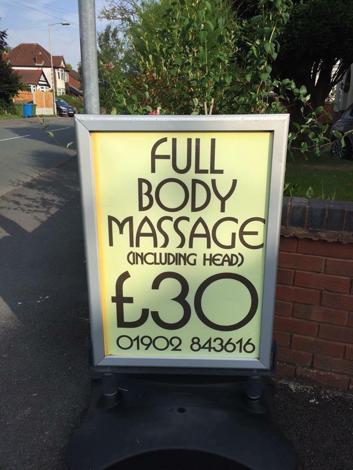 full body massage, including head