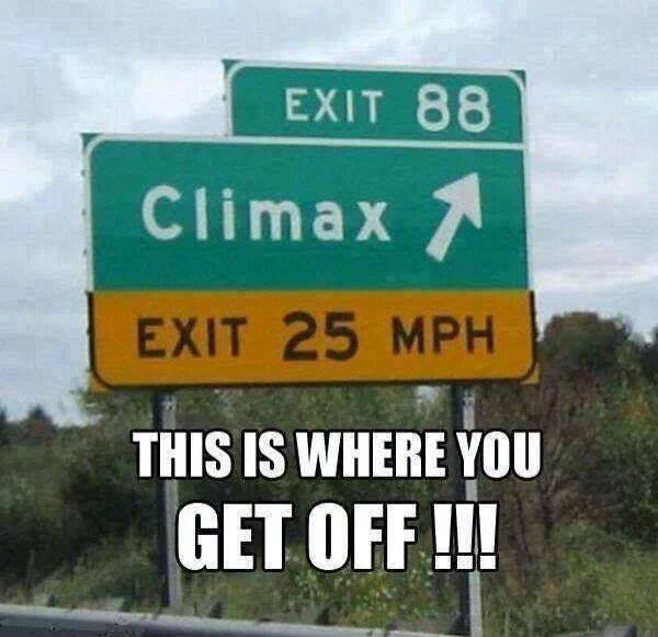 exit 88 climax, this is where you get off