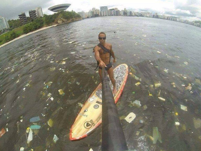 this is what the ocean in rio looks like, but nah lets spend a few more billion at the olympics