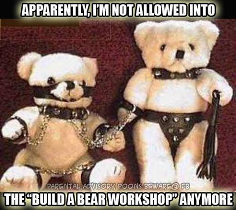 apparently i'm not allowed into the build a bear workshop anymore