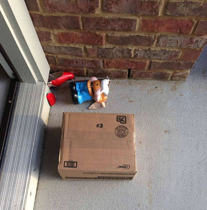 package left with a warning, broken gnome, delivery fail