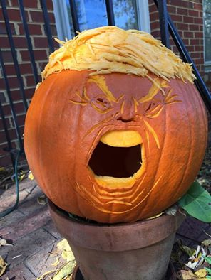 the scariest jack-o-lantern of all, trumpkin