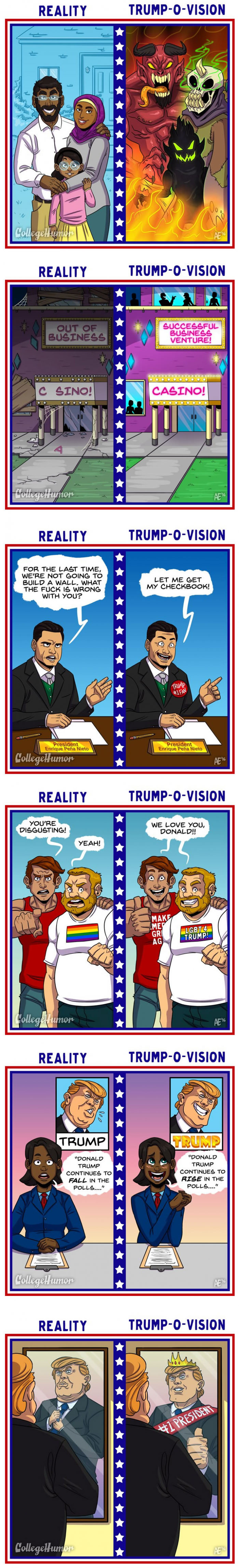 what life looks like to donald trump, trump-o-vision