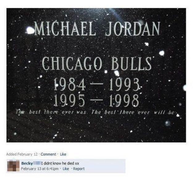 michael jordan, chicago bulls, 1984-1993, 1995-1998, i didn't know he died