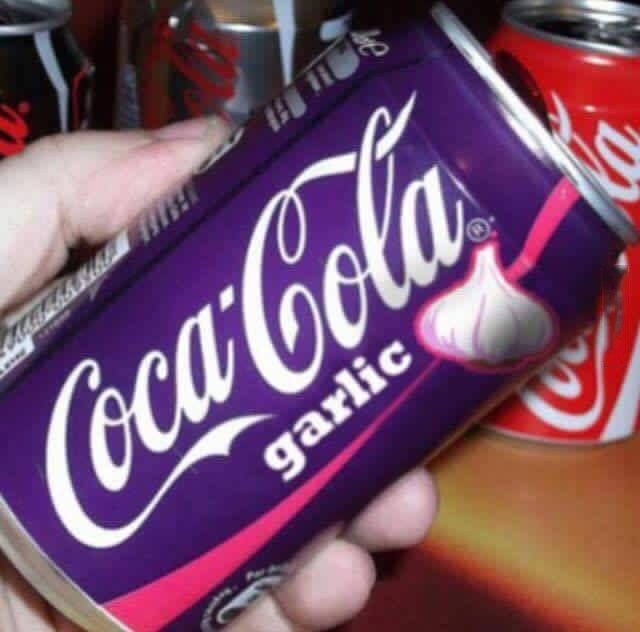 coca cola garlic, wtf