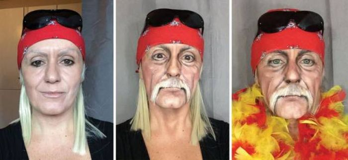 make up to make you look like hulk hogan