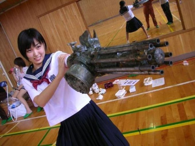 epic cosplay machine gun arm