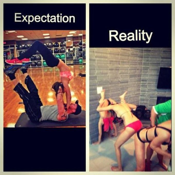expectation versus reality at the gym