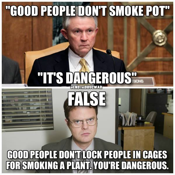 good people don't smoke pot, it's dangerous, good people don't lock people in cages for smoking a plant, you're dangerous, meme