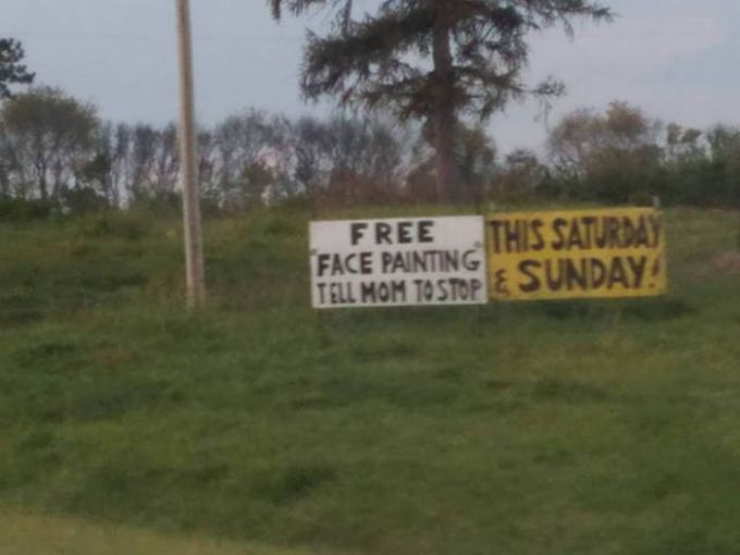 free face painting, tell mom to stop this saturday and sunday