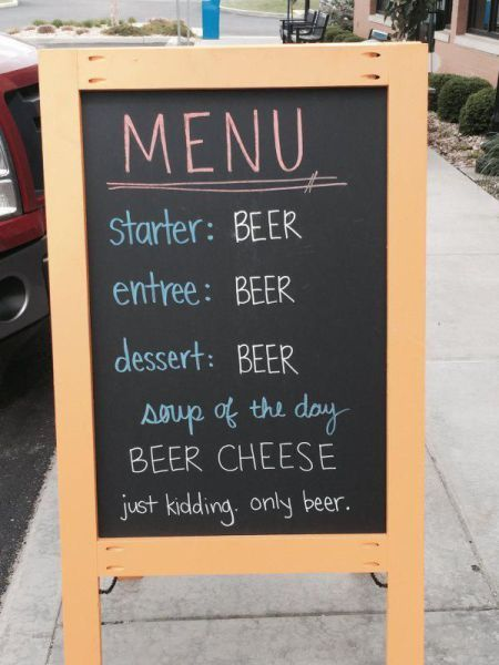 there's beer on the menu