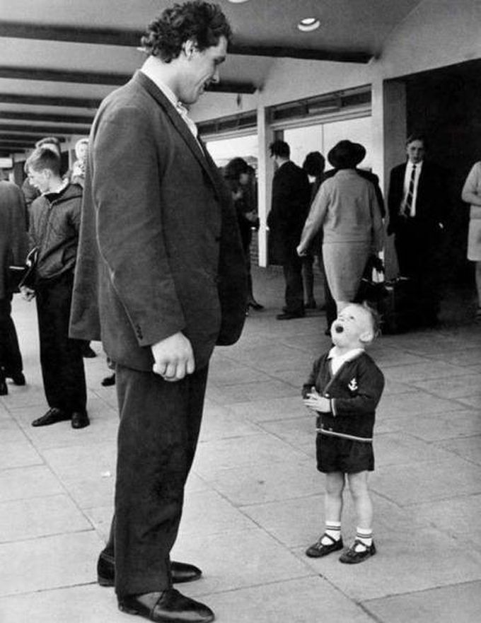 little boy seeing andre the giant