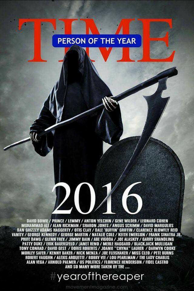 death is time's 2016 person of the year