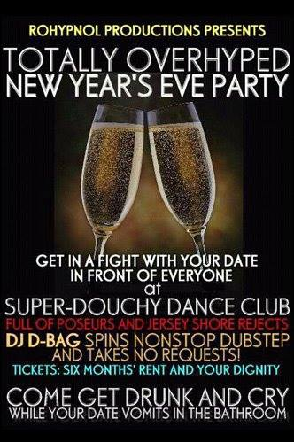 rohypnol productions presents totally overhyped new year's eve party