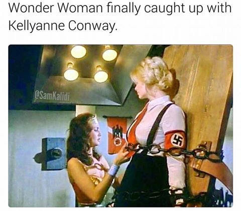 wonder woman finally caught up with kelly anne conway