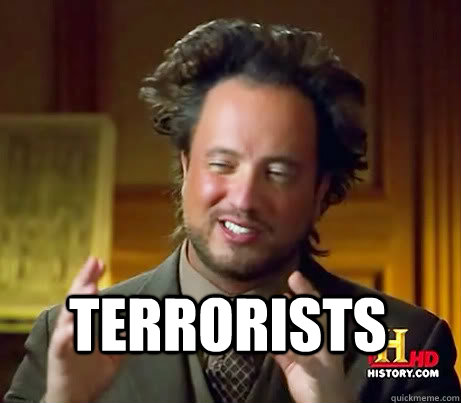 terrorists, aliens meme