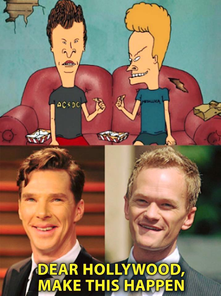 dear hollywood, make this happen, bevies and butthead