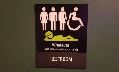 bathroom sign, whatever just please wash your hands, restroom