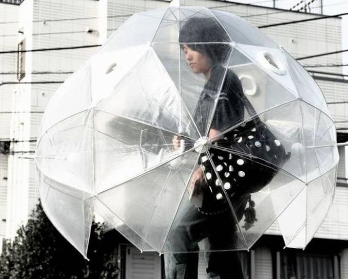 epic umbrella to keep you dry even when rain hits from the sides