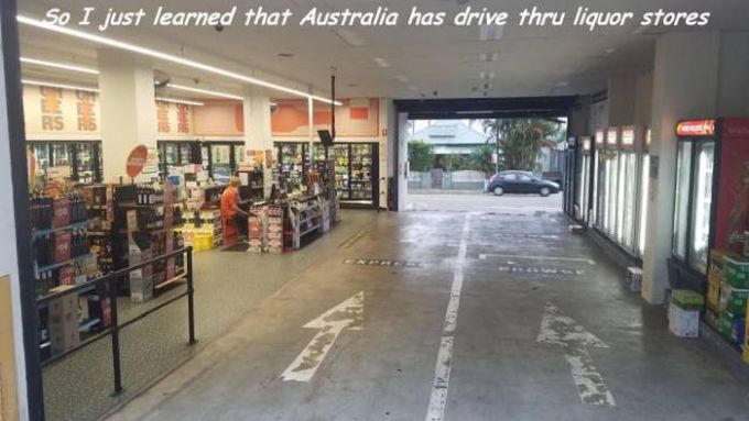 so i just learned that australia has drive thru liquor stores