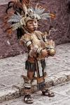 impressive native costume on young kid